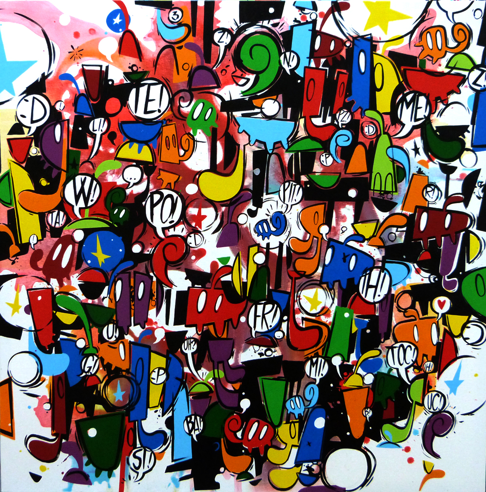 Willlow, BAdaBOOM, cm 100x100, 2014, smalto su tela