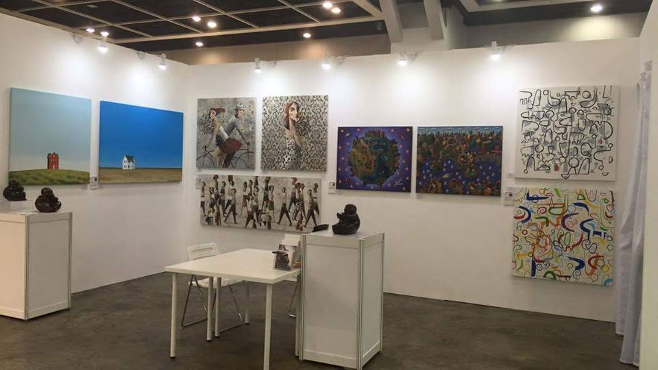 Willow all'Affordable Art Fair di Hong Kong con la galleria Barnadas Huang